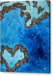 Love Heart Reef Acrylic Print by Georgia  Mansur