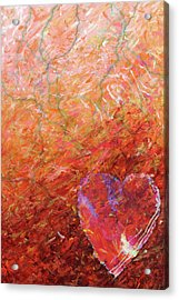 Love, Hope, And Compassion, For A Peaceful World Acrylic Print by Julie Turner
