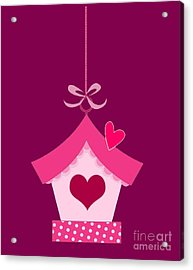 Love House T-shirt Acrylic Print