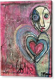 Acrylic Print featuring the painting Love In All Things by Laurie Maves ART