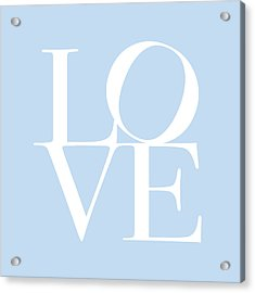 Love In Baby Blue Acrylic Print by Michael Tompsett