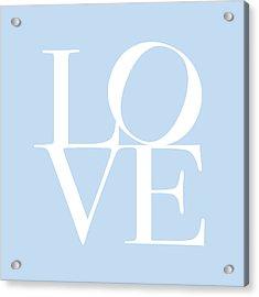 Love In Baby Blue Acrylic Print by Michael Tompsett