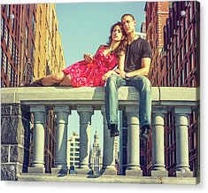 Love In Big City Acrylic Print