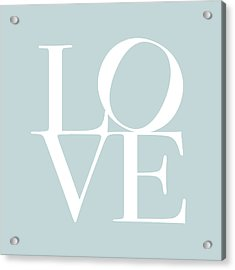Love In Duck Egg Blue Acrylic Print by Michael Tompsett