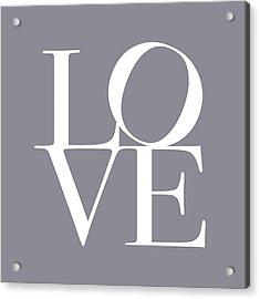 Love In Grey Acrylic Print