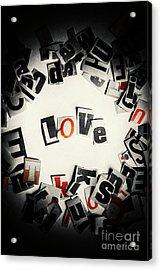 Love In Letters Acrylic Print