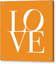Love In Orange Acrylic Print