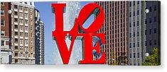 Love In Philadelphia Pa Acrylic Print
