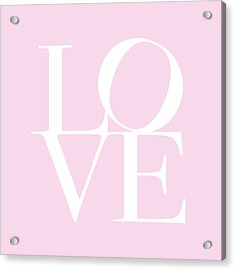 Love In Pink Acrylic Print by Michael Tompsett