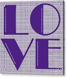 Love In Purple Acrylic Print by Liesl Marelli