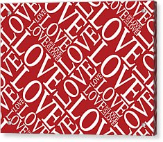 Love In Red Acrylic Print by Michael Tompsett