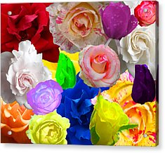 Love In Roses Acrylic Print by Kim