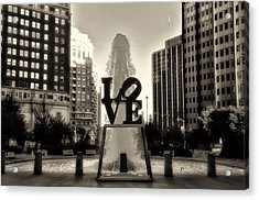 Love In Sepia Acrylic Print by Bill Cannon
