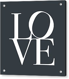Love In Slate Grey Acrylic Print by Michael Tompsett