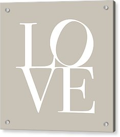 Love In Taupe Acrylic Print by Michael Tompsett