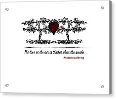Love In The Air Acrylic Print