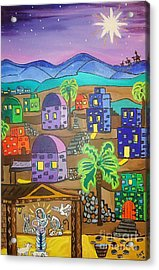 Love In The City Of David Acrylic Print by Stephanie Temple