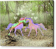 Love In The Magical Forest Acrylic Print by Rosalie Scanlon
