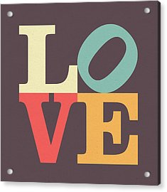 Love In Vintage Acrylic Print
