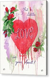 Acrylic Print featuring the painting Love In Your Heart by Marilyn Smith
