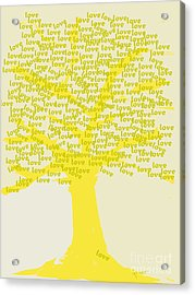 Acrylic Print featuring the painting Love Inspiration Tree by Go Van Kampen