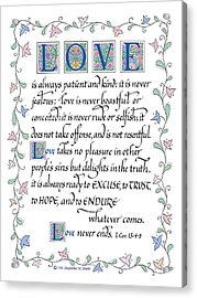 Love Is Always Patient-with Border Acrylic Print