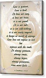 Love Is ... Acrylic Print by Angelica -Gel Studios