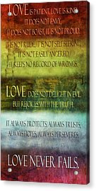 Acrylic Print featuring the digital art Love Is  by Angelina Vick