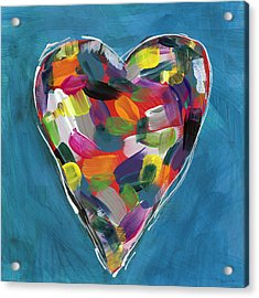Love Is Colorful In Blue- Art By Linda Woods Acrylic Print by Linda Woods