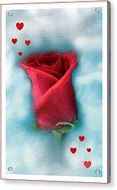 Love Is In The Air Acrylic Print by Linda Sannuti