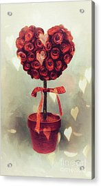 Acrylic Print featuring the digital art Love Is In The Air by Lois Bryan