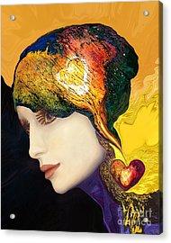 Love Hat Acrylic Print by Art by Ela