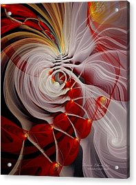 Love Is Like A Fire Acrylic Print by Gayle Odsather