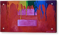 Acrylic Print featuring the painting Love Is Love by Patti Schermerhorn