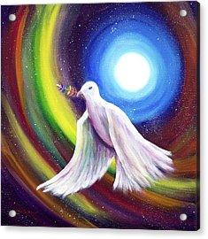 Love Is Love Peace Dove Acrylic Print