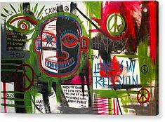 Love Is My Religion Acrylic Print