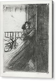 Acrylic Print featuring the drawing Love - La Femme Series by Paul-Albert Besnard
