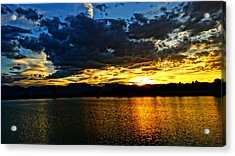 Acrylic Print featuring the photograph Love Lake by Eric Dee