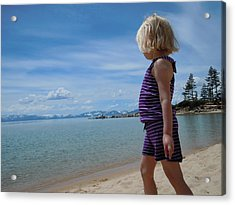 Acrylic Print featuring the photograph Love Lake Tahoe by Dan Whittemore