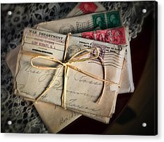 Love Letters Acrylic Print by June Marie Sobrito