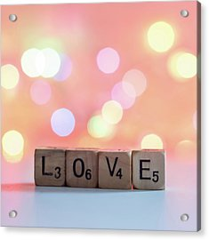 Love Lights Square Acrylic Print by Terry DeLuco