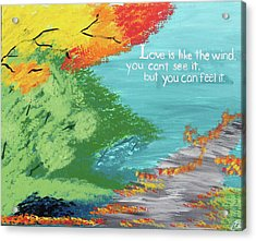 Love Like The Wind Acrylic Print by Cyrionna The Cyerial Artist