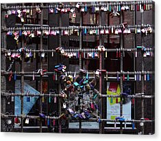 Love Locks At Juliet's House Acrylic Print