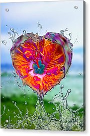 Love Makes A Splash Acrylic Print