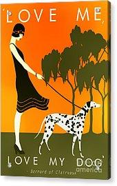 Love Me Love My Dog - 1920s Art Deco Poster Acrylic Print