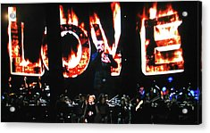 Acrylic Print featuring the photograph Love Me Some George Michael And Adele by Toni Hopper
