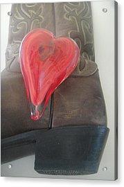 Love My Boots Acrylic Print by WaLdEmAr BoRrErO