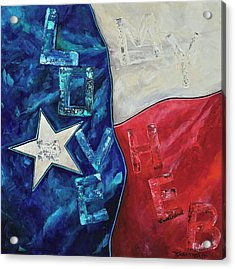 Acrylic Print featuring the painting Love My Heb by Patti Schermerhorn