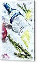 Love My Wine Acrylic Print by Pennie  McCracken