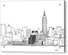 Love Nyc Monochrome Acrylic Print by Callan Percy